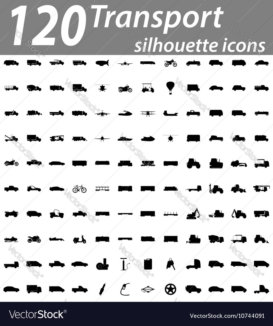 Set transport flat icons 05