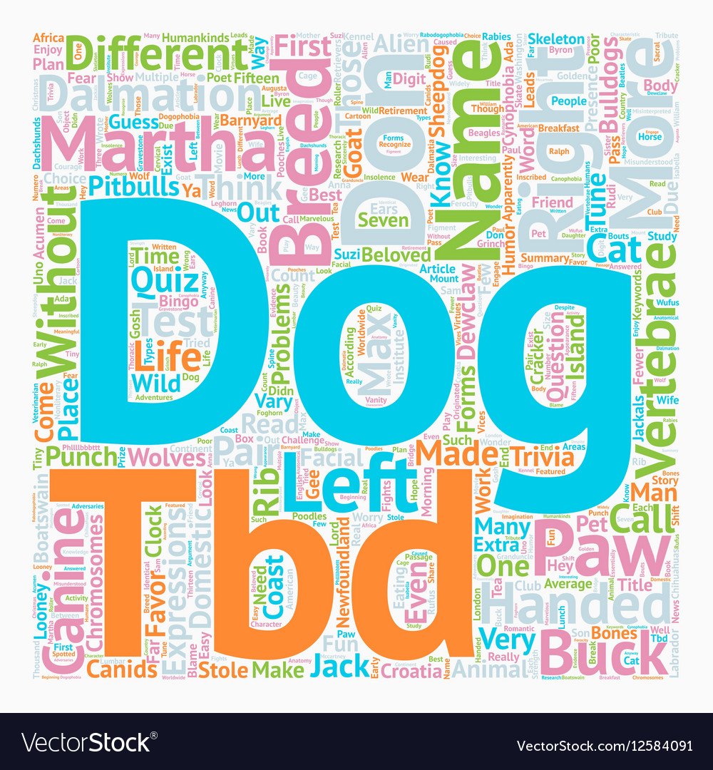 Test Your Canine Acumen text background wordcloud