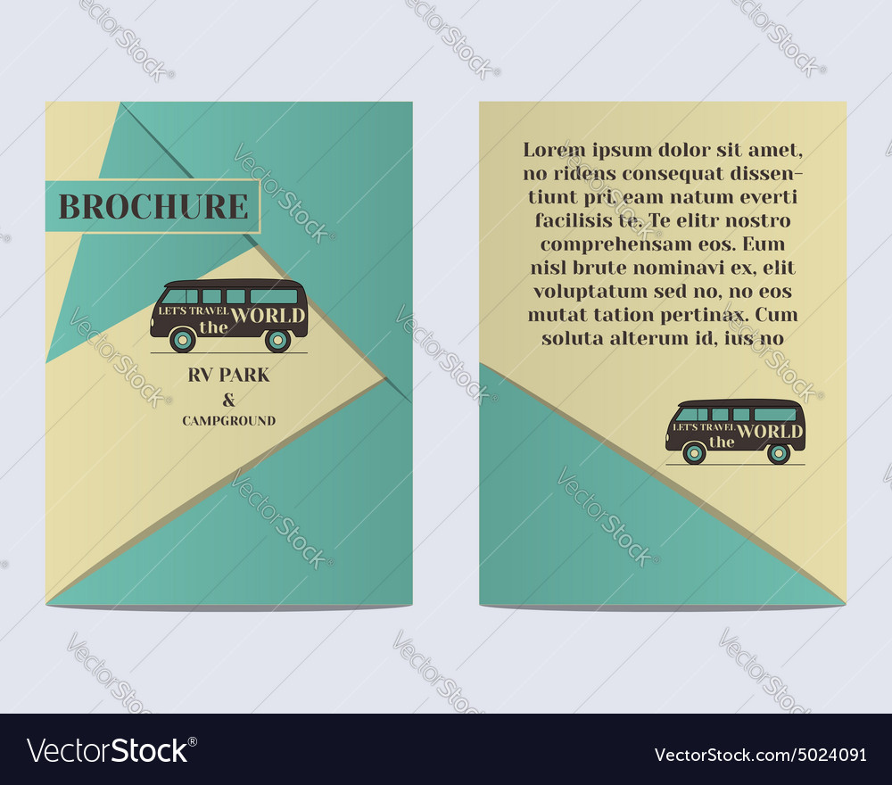 Travel Brochure Flyer design Layout template Rv