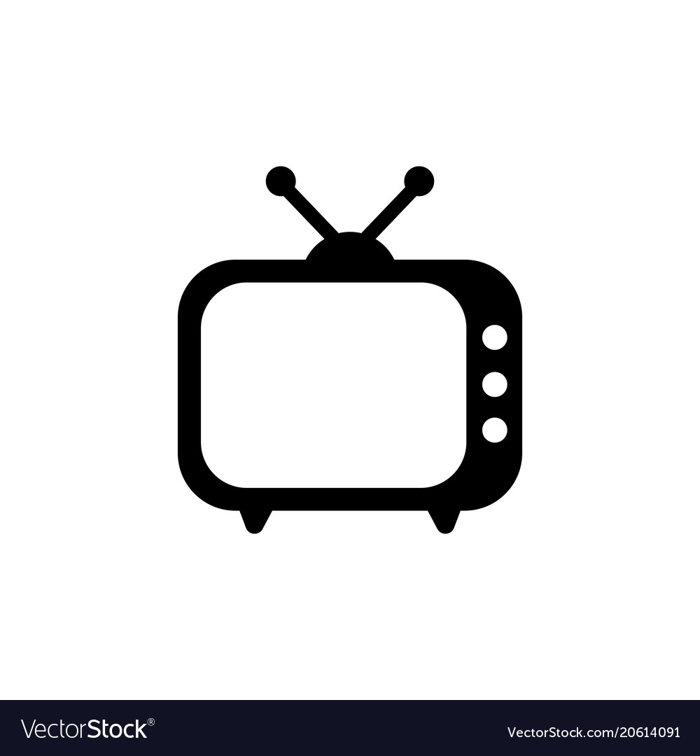 Tv icon in flat style television symbol