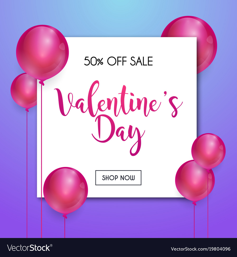 Happy Valentines Day Greetings Card Design Vector Image