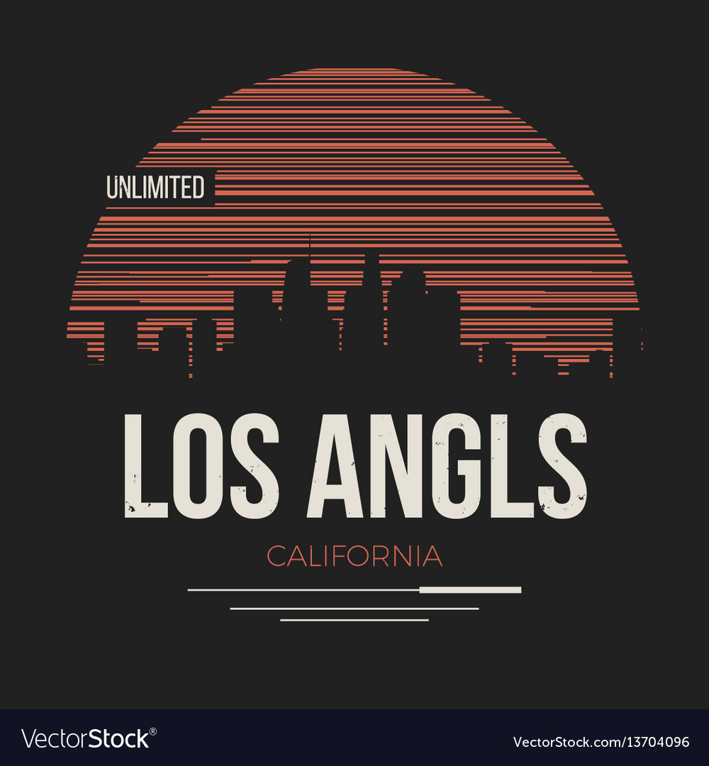 Los angeles graphic t-shirt design tee print