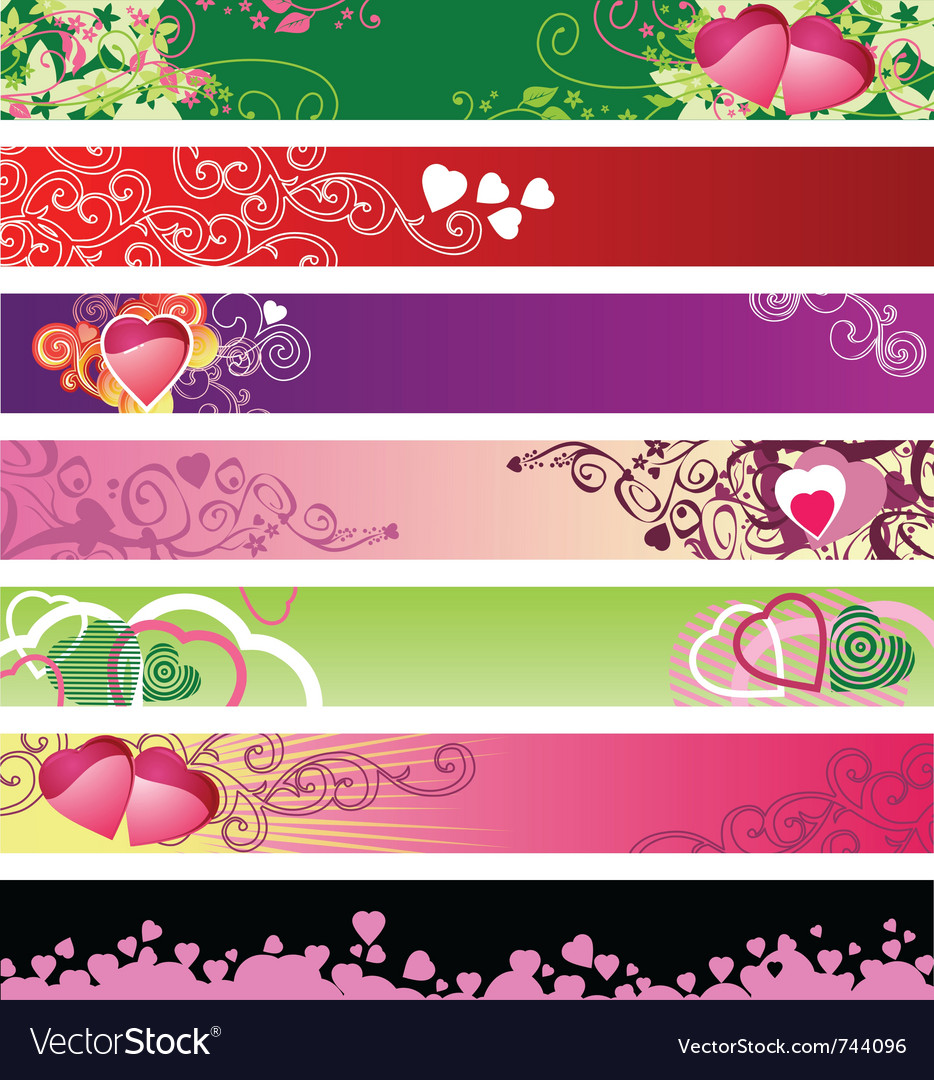 Love hearts website banners