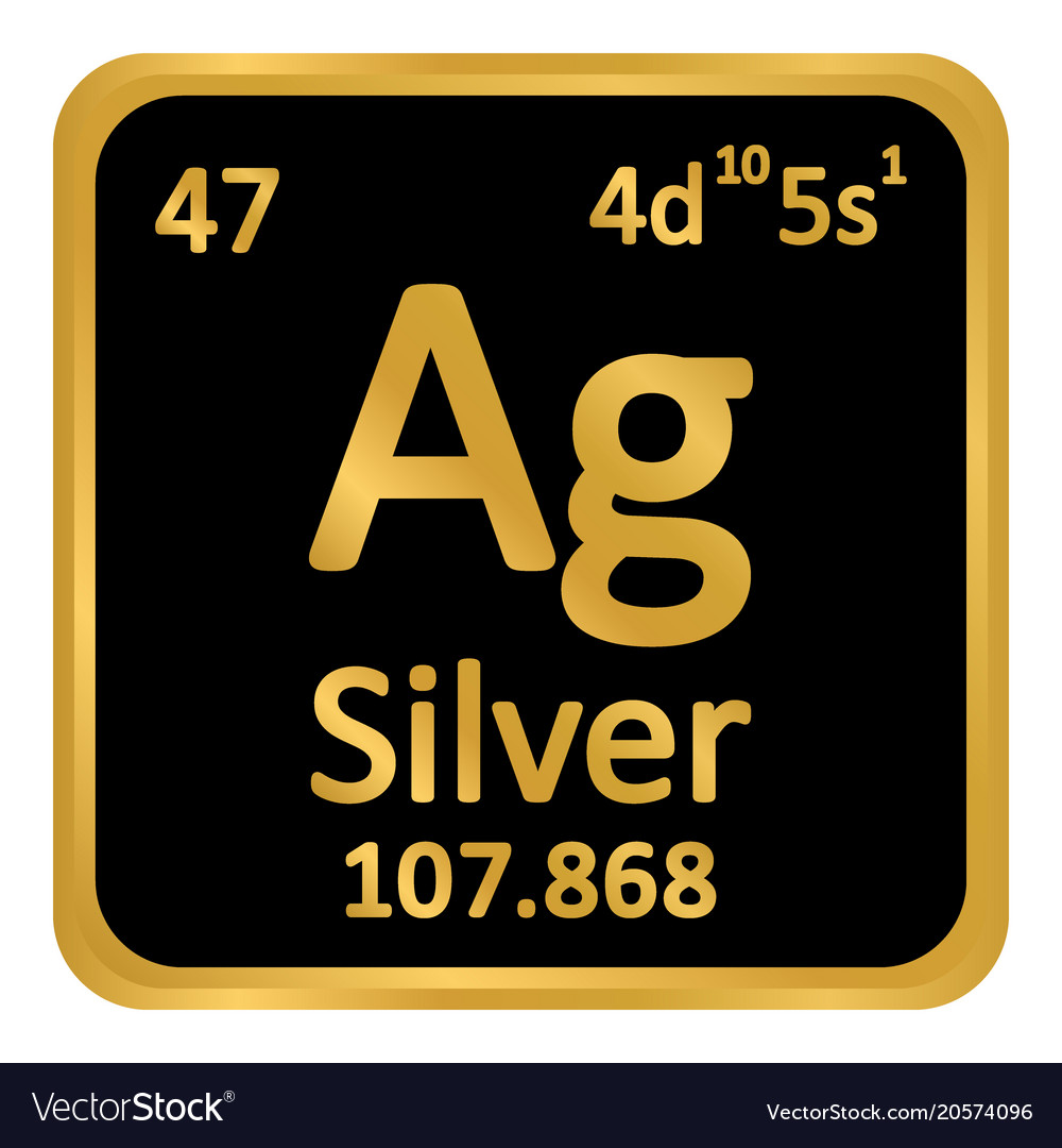 Periodic table element silver icon royalty free vector image periodic table element silver icon vector image urtaz Images