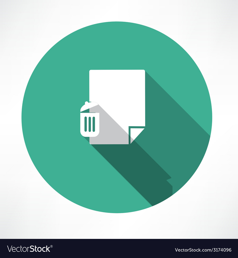 Recycle and paper icon