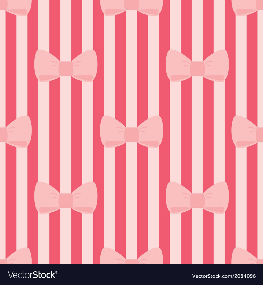 Seamless pattern with tile pink bows red stripes