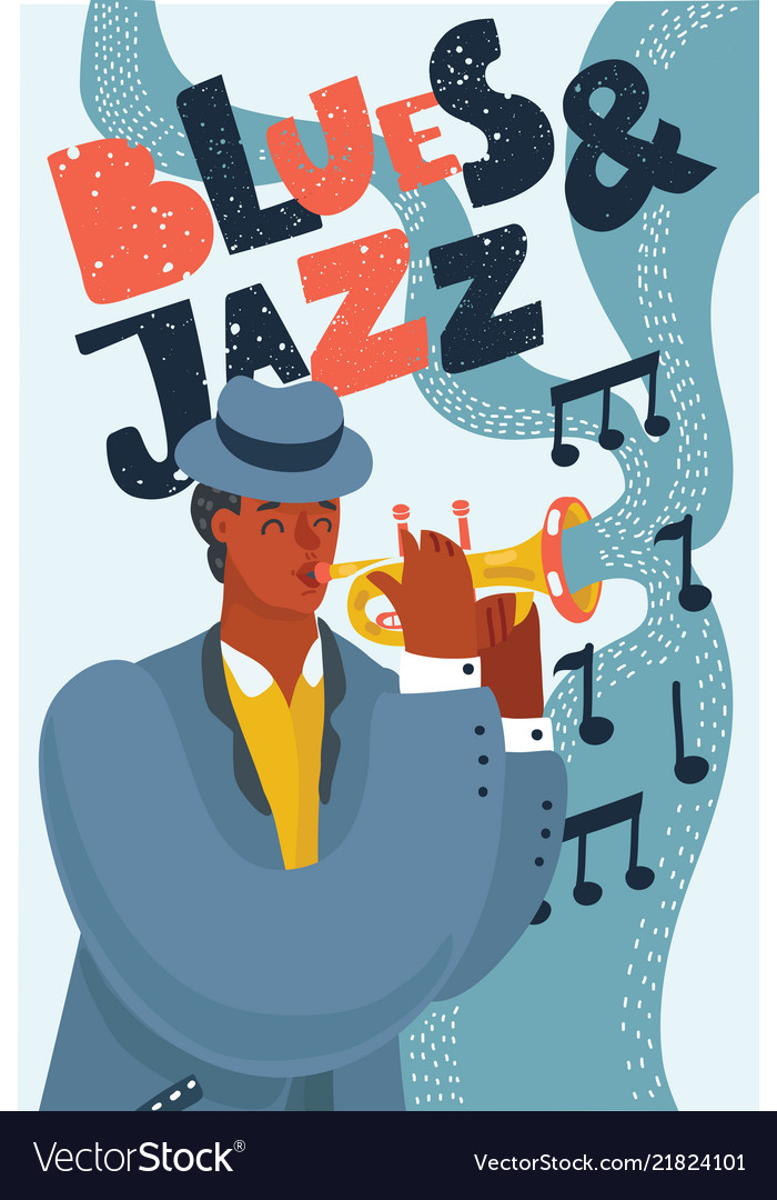 Blues jazz music poster