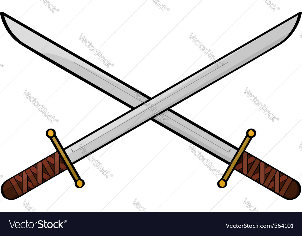 Cartoon swords vector image