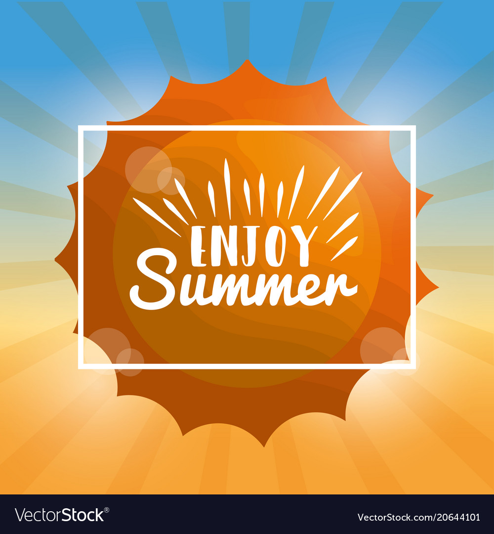 Enjoy Summer Vacations Vector Image