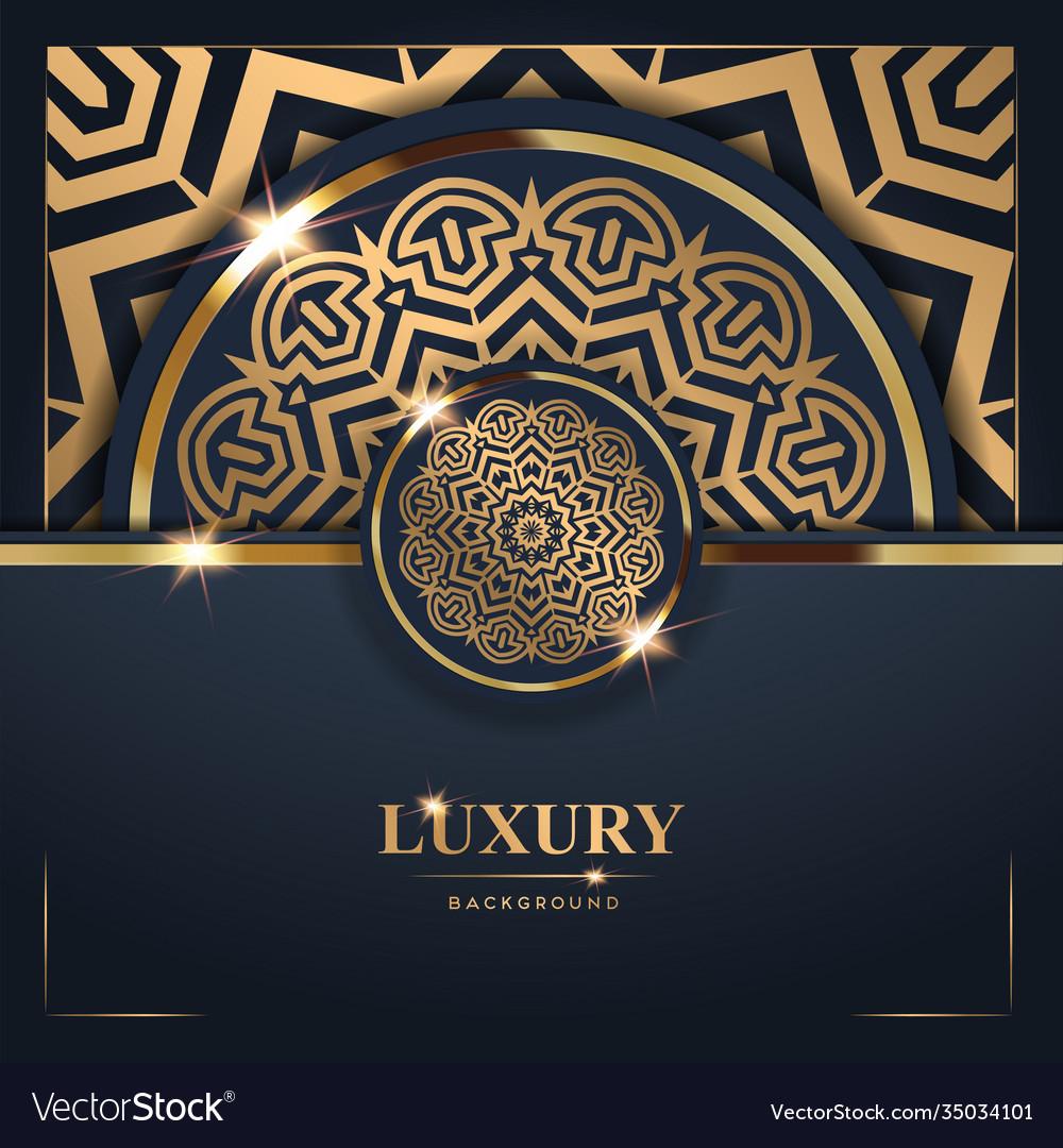 Luxury golden mandala background free