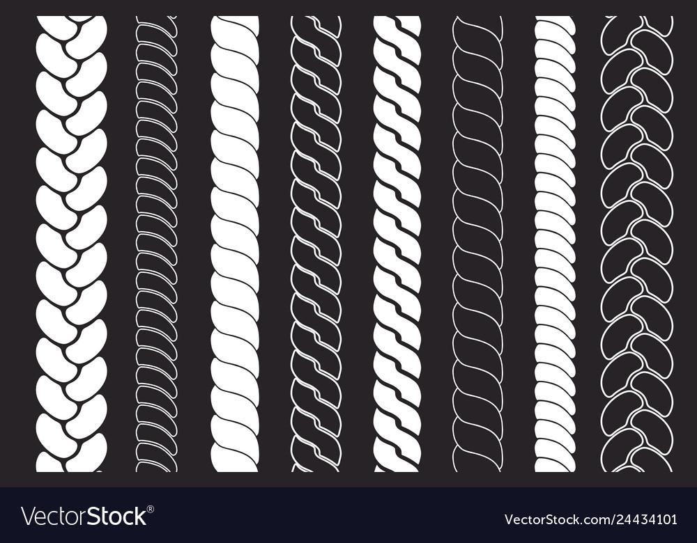 Plait and braids pattern brush set ropes