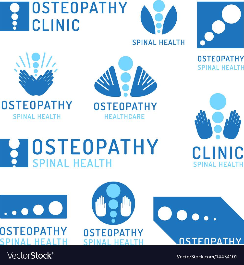 Set logo osteopathy