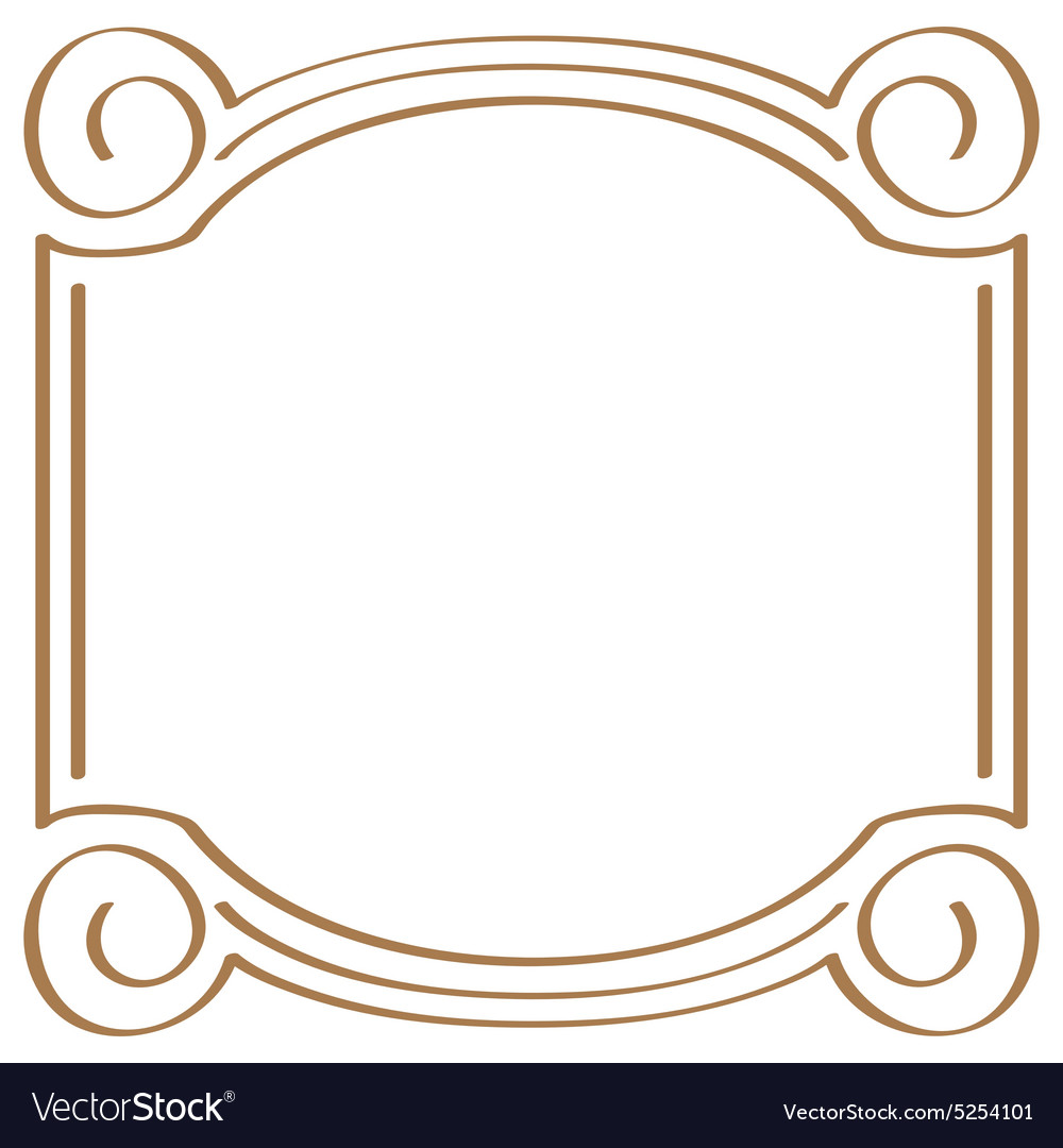 Square simple frame for design Royalty Free Vector Image