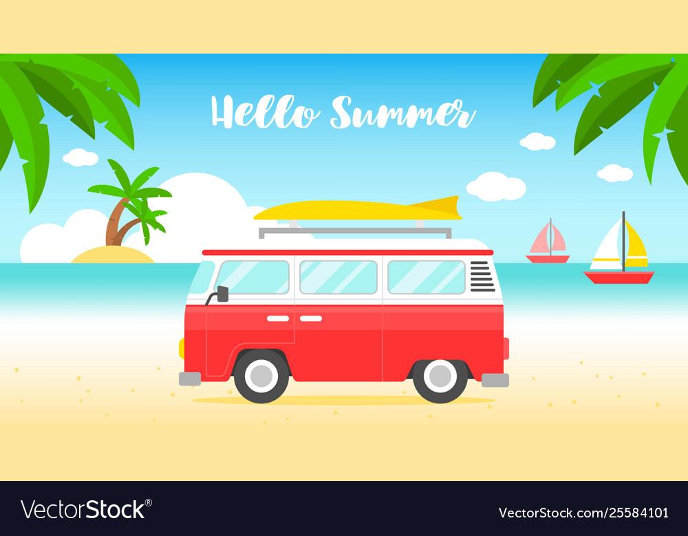 Summer vacation summer beach poster