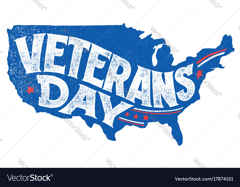 Veterans day holiday hand-lettering greeting card