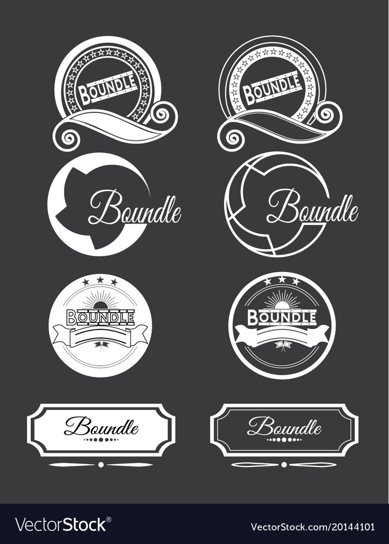 Vintage logo set