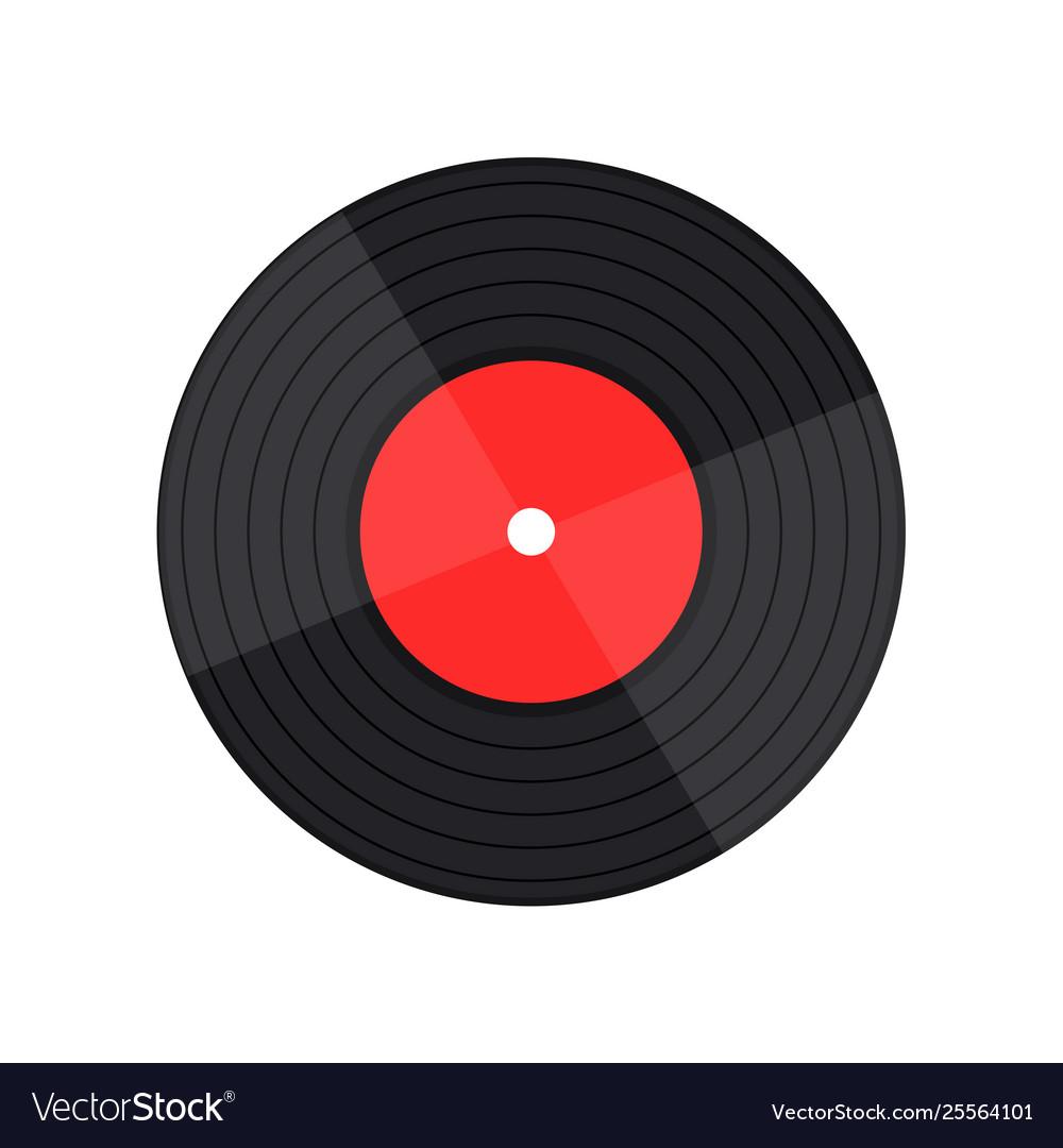 Vinyl record music with vinyl record word