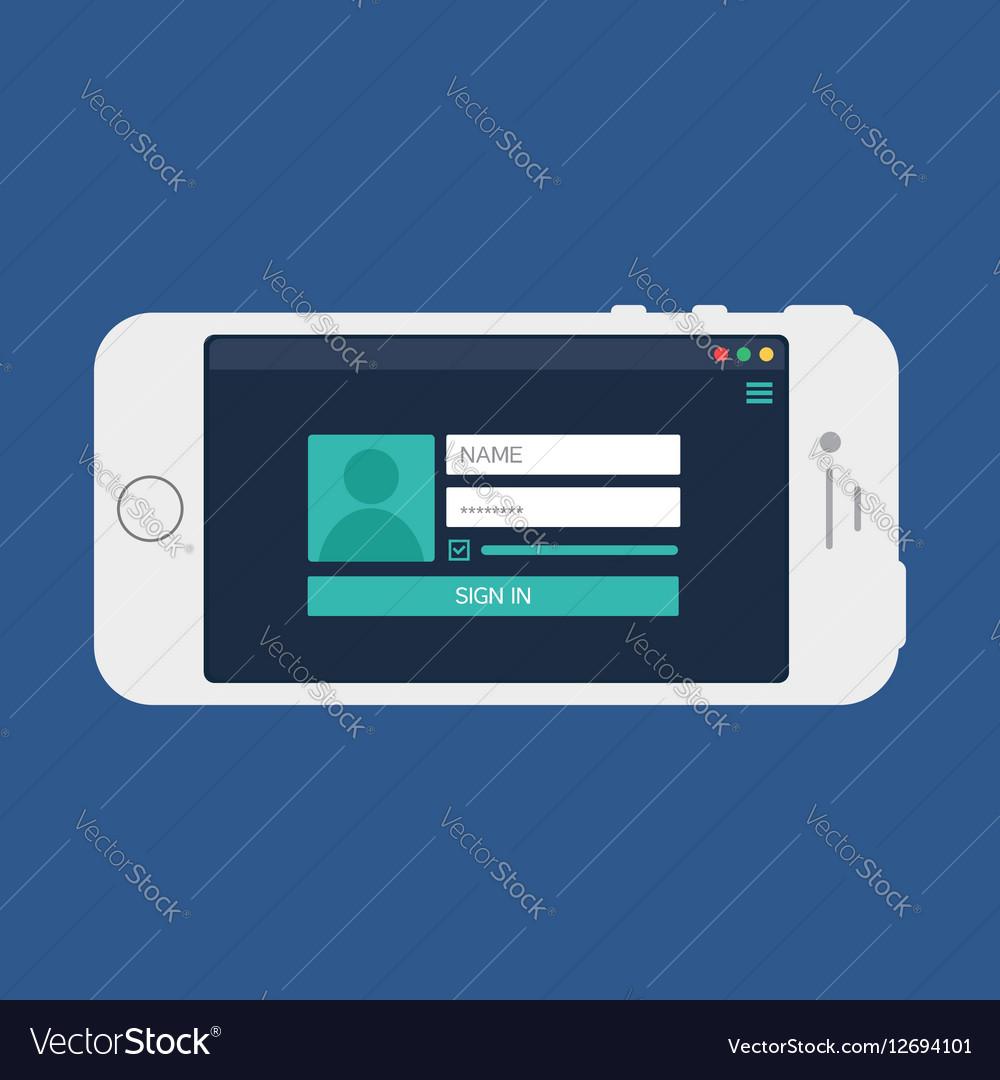 Web Template of Smartphone Login Form