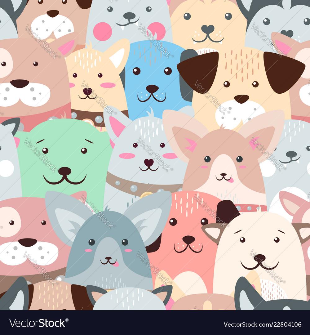 Animals dog - cute funny pattern