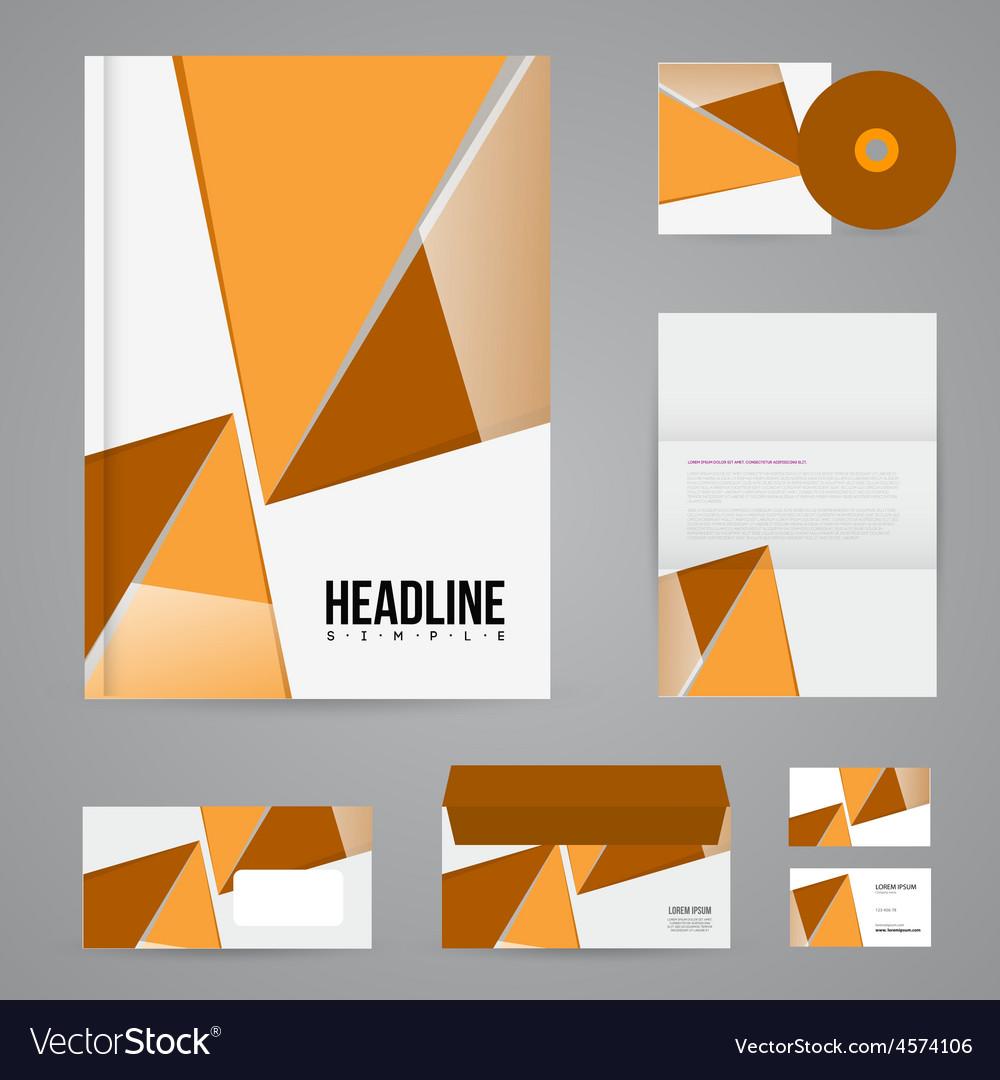 branding design template royalty free vector image