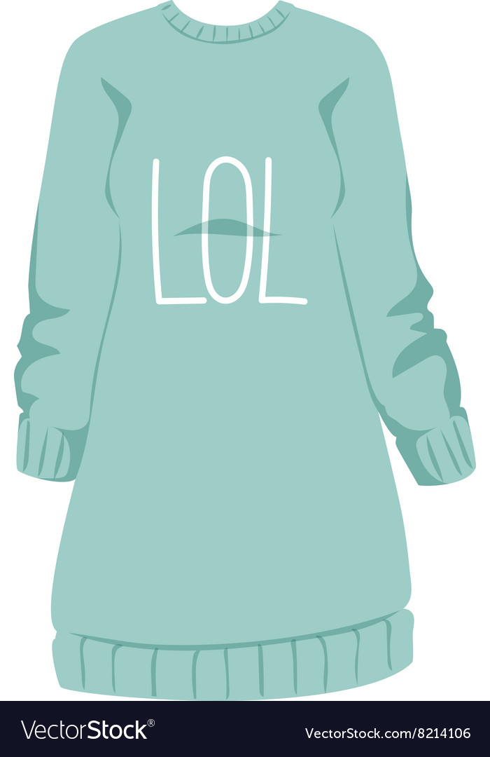Female sweatshirt blue style hoodie and warm vector image
