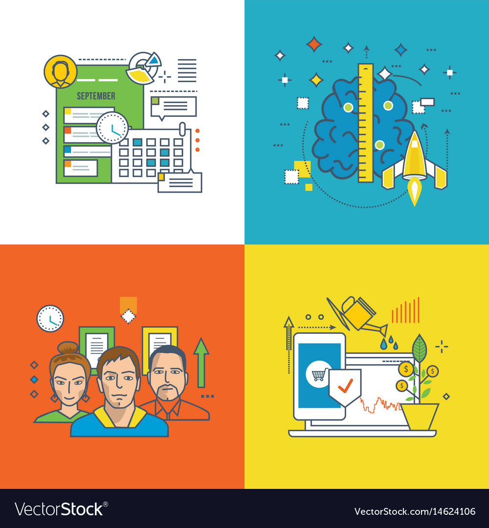 Finance investment success at work brainstorm vector image