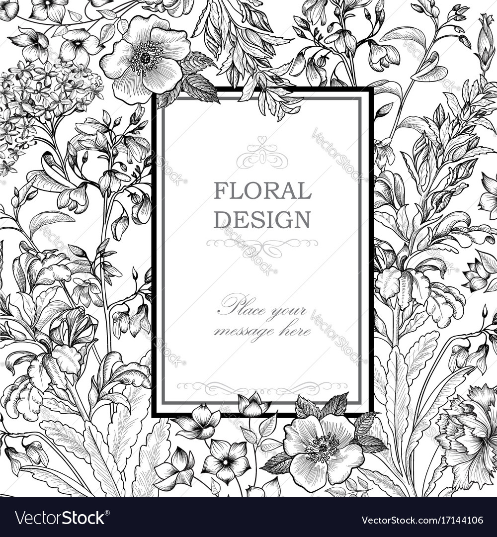 Floral background flower bouquet cover flourish