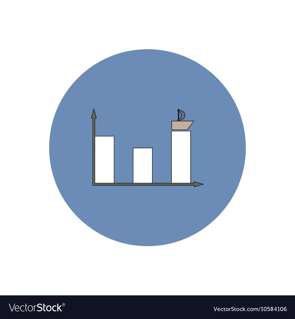 In flat design of column chart