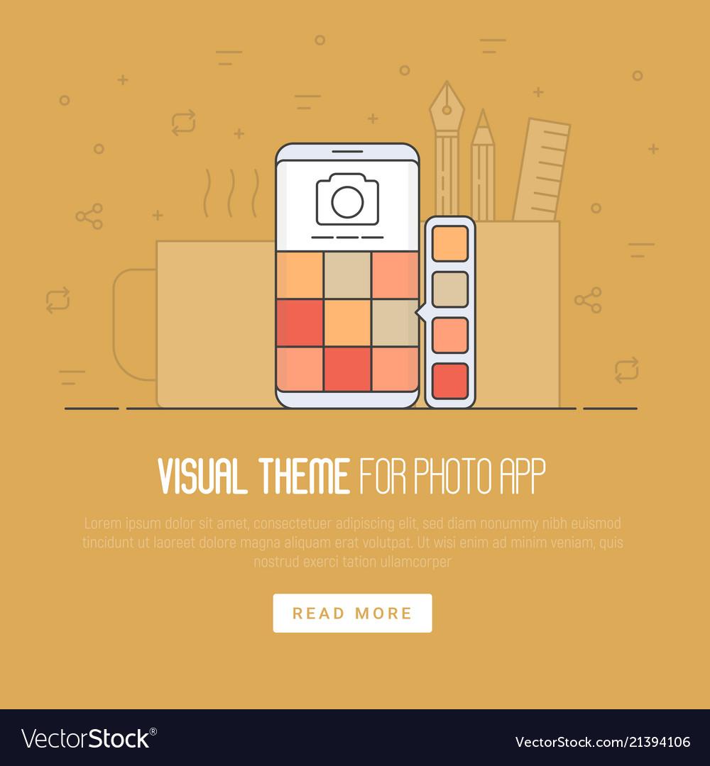 Photo app development concept