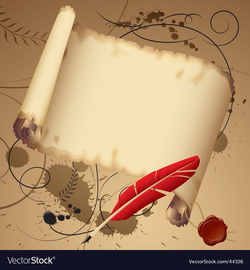 Vintage parchment vector image