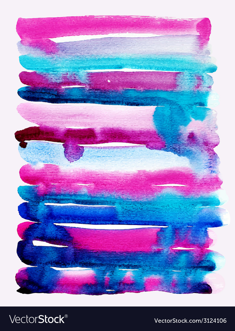 Watercolor brush strokes background stripe pattern