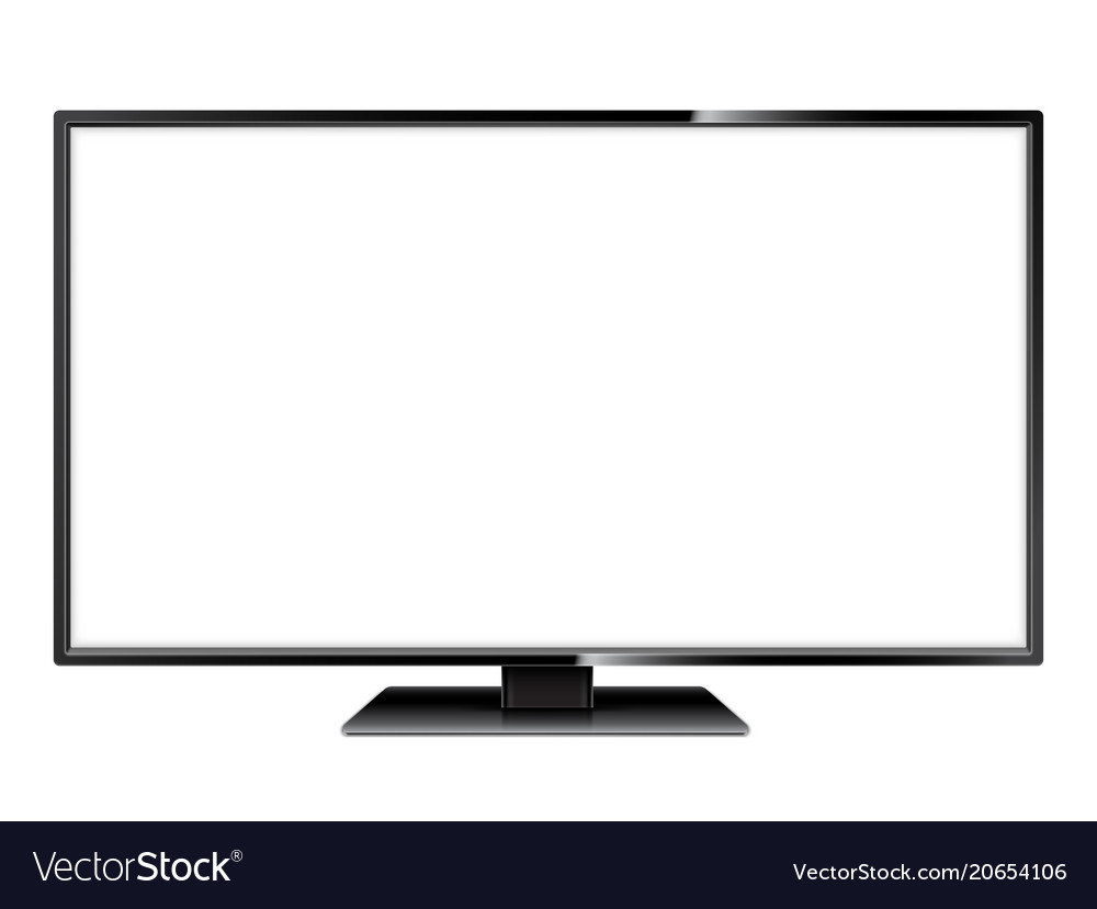 White screen tv vector image