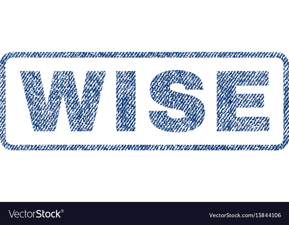 Wise textile stamp vector image