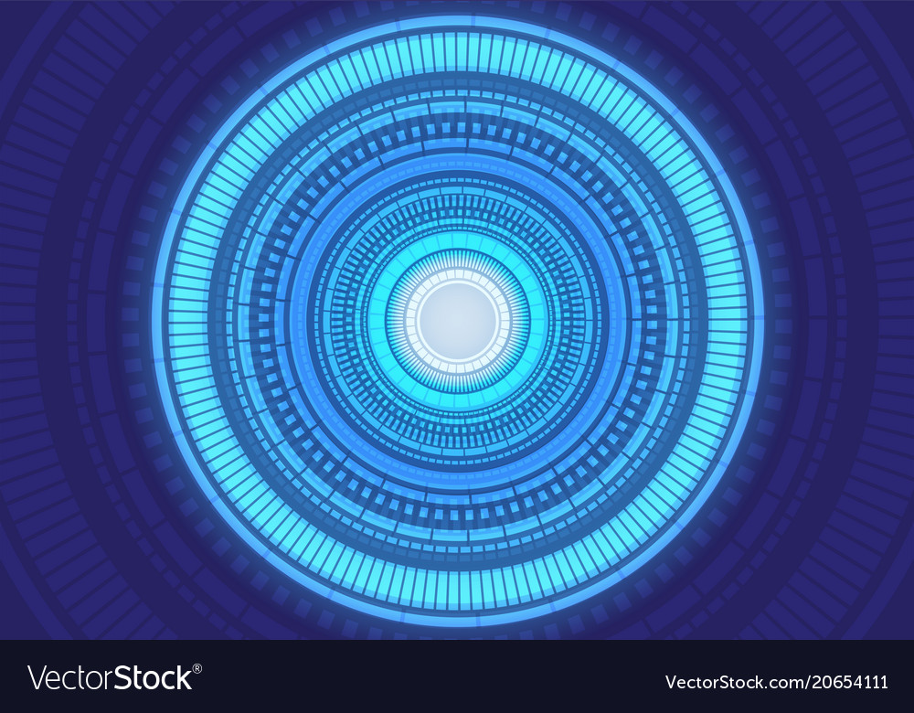 Abstract blue light circle energy power