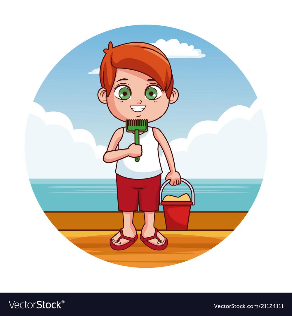 Cute kid at beach