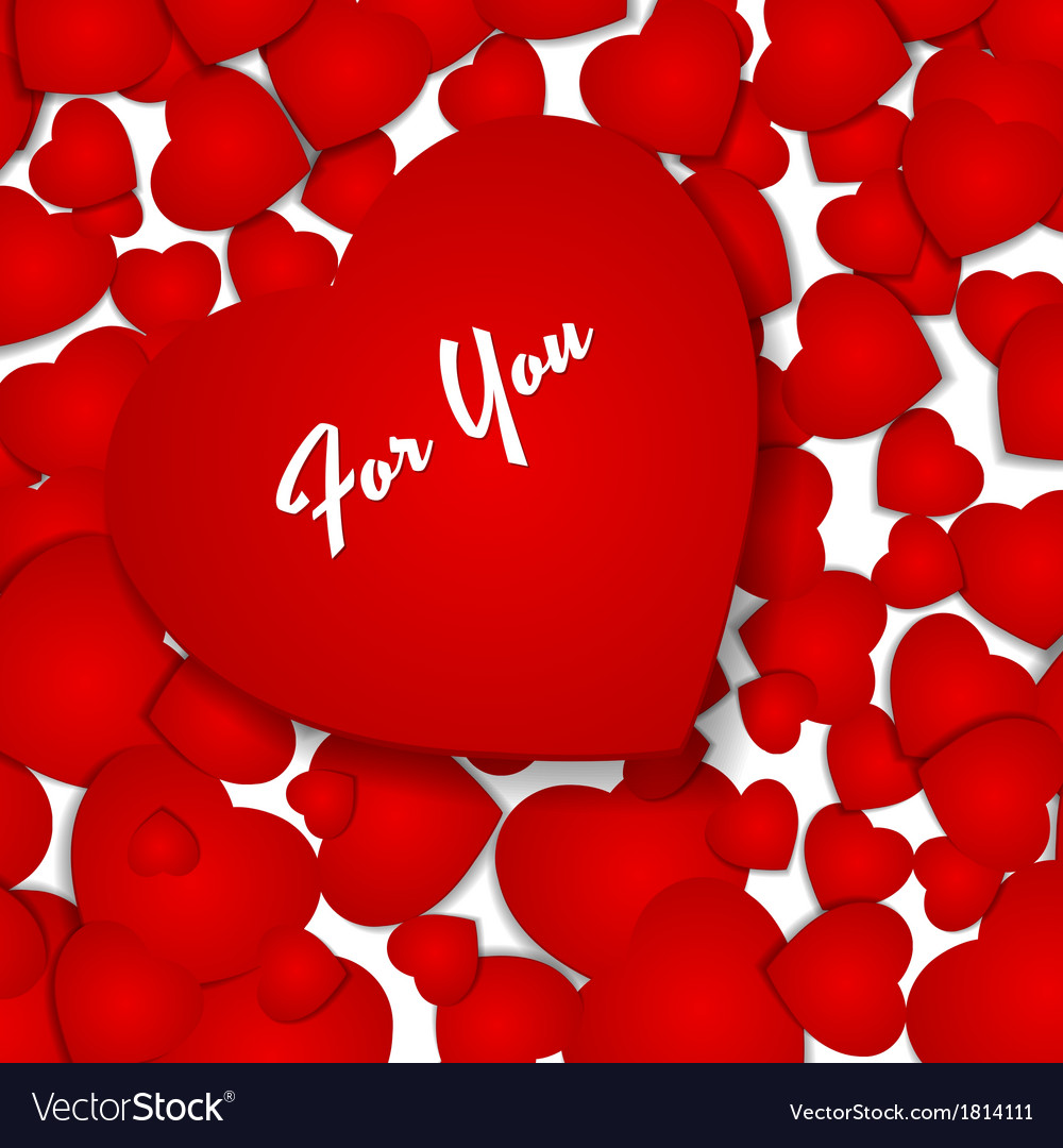 Festive background with red hearts