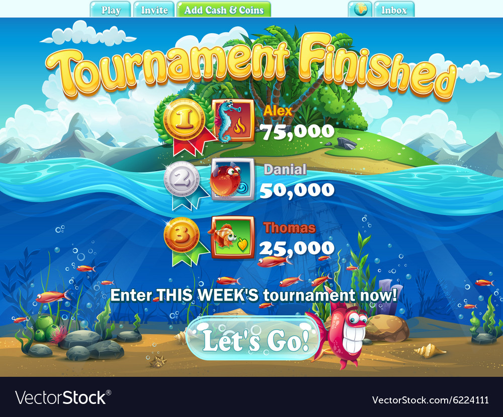 Fish world - tournament finished for computer web