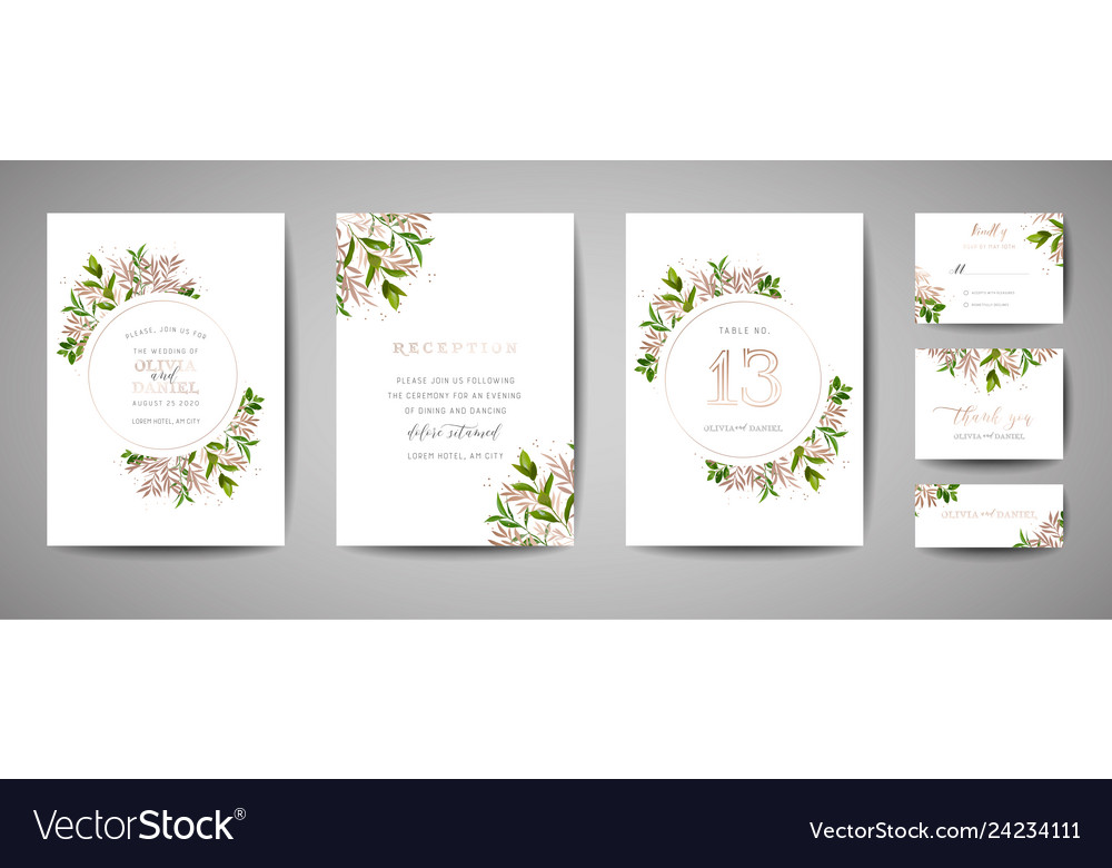 Floral wedding save the date invitation cards