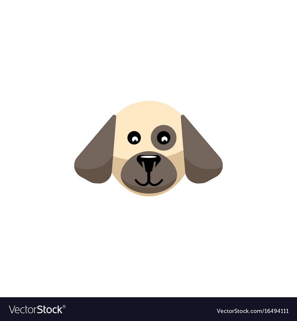 Isolated dog flat icon puppy element can vector image