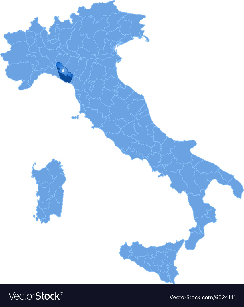 Map Of Italy La Spezia