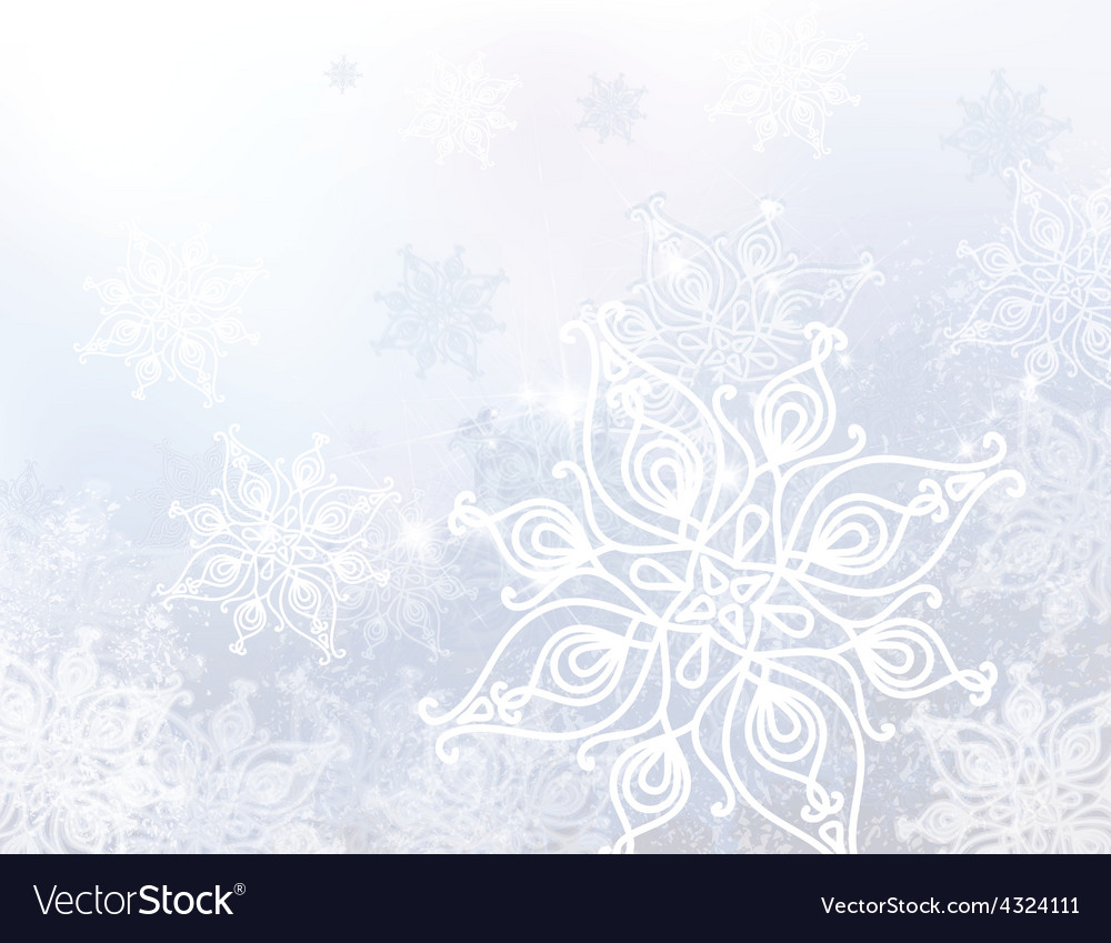 White snowflake background