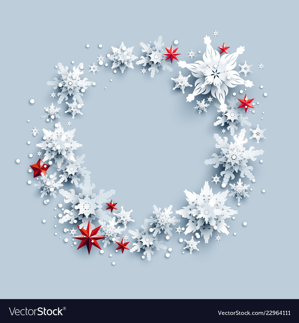 Wreath and stars