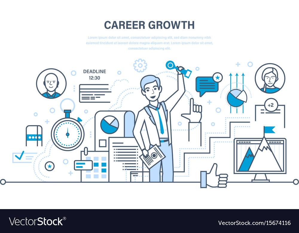 Career growth progress in education qualities