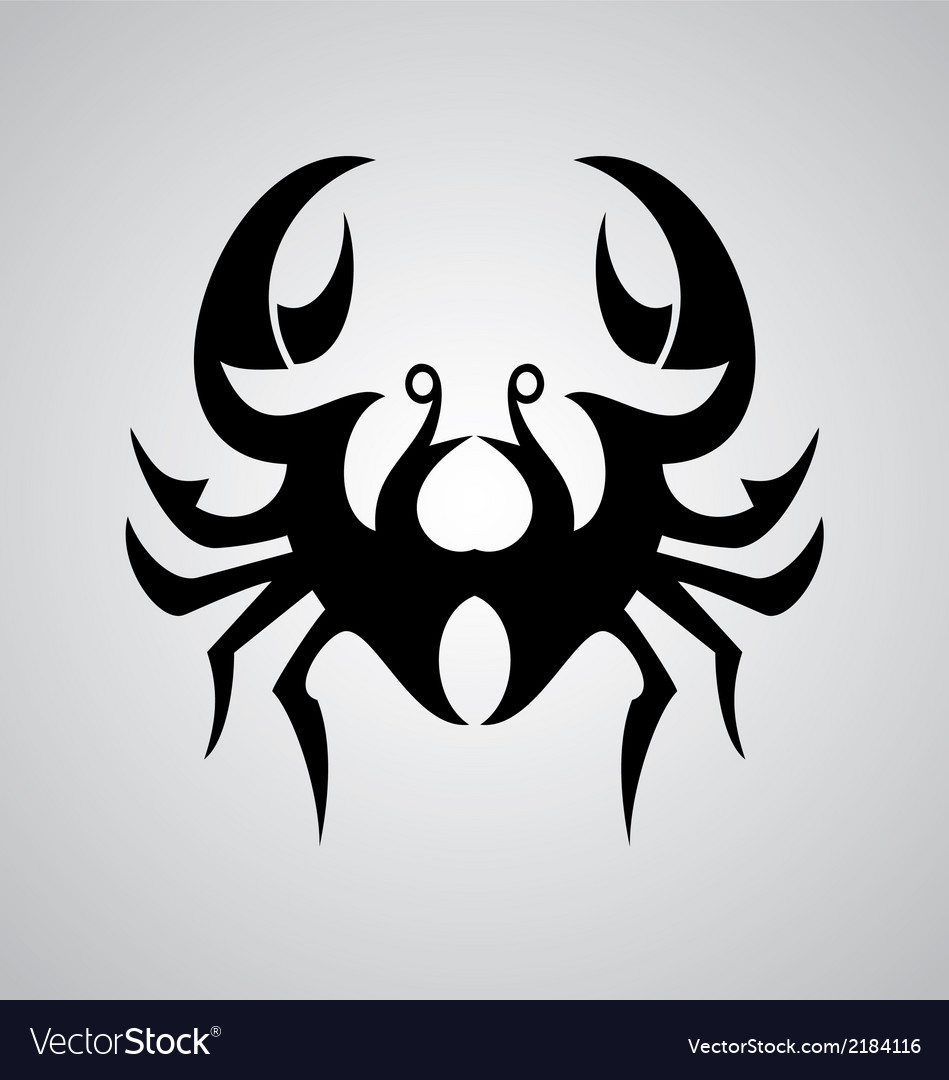 Crab Cancer Sign vector image