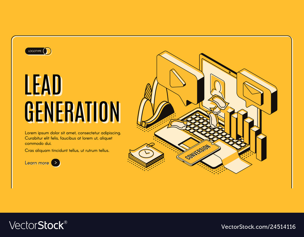 Lead generation strategy isometric website
