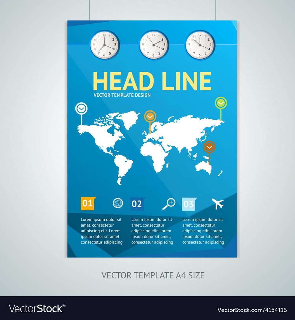 Maps brochure flyer design templates on map for program, map for pamphlet, map for invitation,