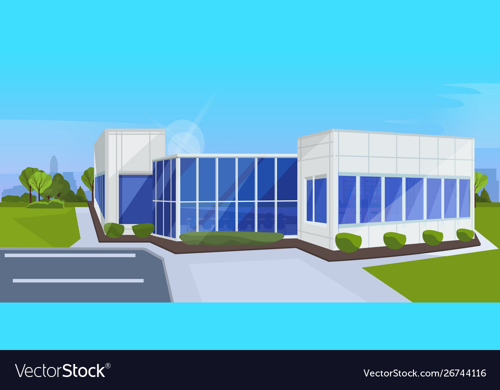 Modern corporate architecture office building
