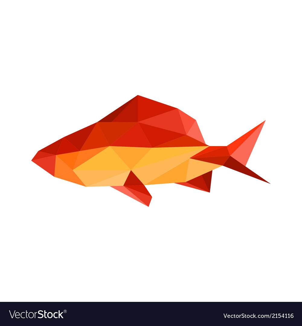 Origami Fish Royalty Free Vector Image Vectorstock