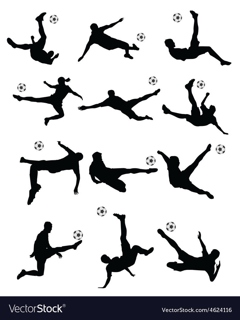 Soccer football player super kick vector image
