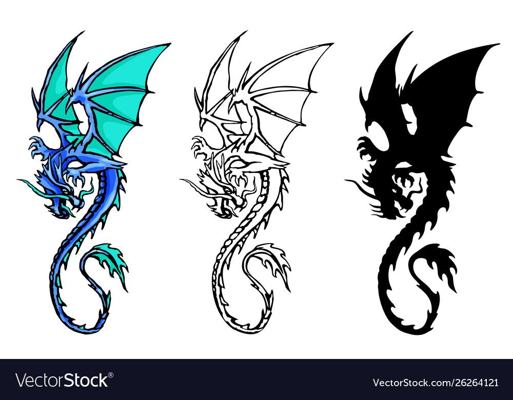 Chinese dragon set